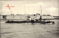 Französisches Kriegsschiff - das Kanonenboot 'Lance'
