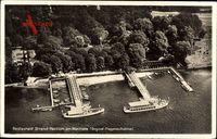 Berlin Zehlendorf Wannsee,Strand Pavillon,Dampfschiffe,Fliegeraufnahme