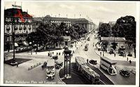 Berlin Tiergarten, Blick auf den Potsdamer Platz mit Leipziger Straße