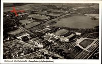 Dortmund im Ruhrgebiet, Westfalenhalle, Kampfbahn, Fliegeraufnahme