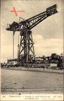 Ferryville Tunesien, Arsenal de Sidi Abdallah, Grande Grue, Hebekran, Hafen