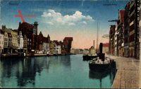 Gdańsk Danzig, Langebrücke, Krantor, Sternwarte, Mottlau