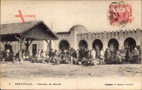 Ferryville Tunesien, Intérieur du Marché, Marktplatz