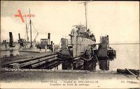 Ferryville Tunesien, Arsenal de Sidi Abdallah, Torpilleur au Dock de carénage