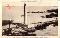 Gatteville Marche, Phare et Sémaphore, Fliegeraufnahme, Leuchtturm