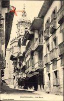 Fuenterrabia Baskenland, Calle Mayor, Hauptstraße, Balkone