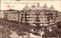 Barcelona Katalonien, Casa Mila y Camps, Arquitecto D.A. Gaudi