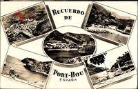 Portbou Katalonien, Strand, Fliegeraufnahme, Boote