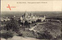 San Lorenzo de El Escorial Madrid Spanien, Vista general desde el Romeral