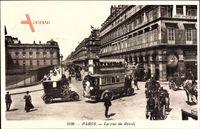 Paris, La rue de Rivoli, Zweistöckiger Bus, Verkehr