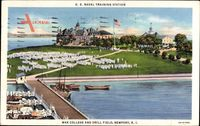 Newport Rhode Island USA, War College and Drill Field, US Naval Training