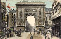 Paris, La Porte Saint Denis, Torbogen, Straßenverkehr