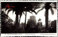 Palma Mallorca Balearische Inseln, Plaza de Espana, Reiterdenkmal