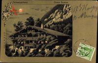 Mondschein Schweiz, Helvetia, Châlet Suisse, Schweizerhaus