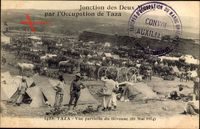 Taza Marokko, Vue partielle du Bivouac, 10 Mai 1914, Occupation