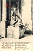 Gedicht Dresden, Das Eselswunder, Eselstatue, Beim Rathauskeller an der Ecken