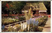 Dresden, Jahresschau 1937, Garten und Heim, Irisgarten, Cafe Eden
