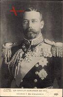 König Georg V. von England, Portrait, Conflit Européen en 1914