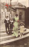 Königin Elisabeth Gabriele von Belgien, Enfants, Ehefrau Albert I.