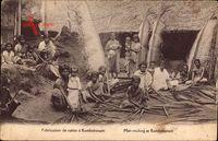 Kumbakonam Indien, Fabrication de nattes, Mattenherstellung, Inder