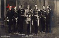 Kaiser Wilhelm II., Sechs Söhne, Prinzen, Liersch 2192