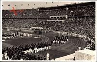 Berlin, Olympiade 1936, Eröffnung, Führerloge, Olympiastadion