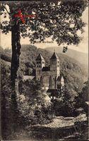 Murbach Elsaß Haut Rhin, Blick zum Kloster, Abtei