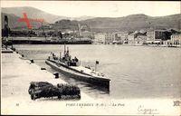 Port Vendres Pyrénées Orientales, Le Port, U Boot im Hafen, Sous Marin