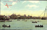 Philadelphia Pennsylvania USA, Cramps Shipyard, Werft, Ruderboote