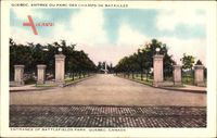 Quebec Kanada, Entrée du parc des champs de batailles, Battefields Park