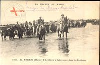 El Mérada Marokko, LArtillerie à labreuvoir dans la Moulouya