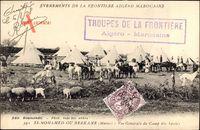 Si Mohamed ou Berkane Marokko, Vue générale du Camp des Spahis