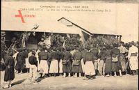 Casablanca Marokko, La fête du 4e Régiment de Zouaves au Camp No 3