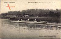 Saint Malo Ille et Vilaine, Torpilleur sortant du Port, Torpedoboot