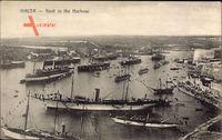 Malta, Fleet in the Harbour, Flotte im Hafen, Dampfschiffe