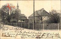 Salder Salzgitter in Niedersachsen, Hausansichten mit Kirche