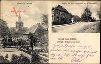 Salder Salzgitter in Niedersachsen, Gasthof von Otto Langemann, Pfarrhaus