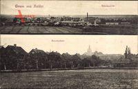 Salder Salzgitter in Niedersachsen, Totalansicht mit Bahnhofsstraße