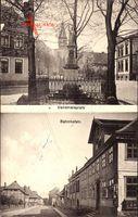 Fallersleben Wolfsburg in Niedersachsen, Bahnhofstraße, Denkmalsplatz