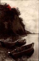 Frankfurt Oder, Steile Wand, Liegende Boote am Ufer