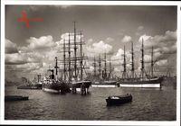Hamburg, Blick auf den Segelschiffhafen, Viermaster