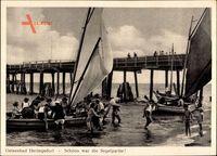 Ostseebad Heringsdorf auf Usedom, Segelpartie, Seebrücke