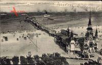 Ankunft der Hochseeflotte im Ostseebad Heringsdorf auf Usedom um 1913