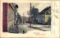 Clausthal Zellerfeld im Oberharz, Die Sägemüllerstraße mit Anwohnerin um 1907