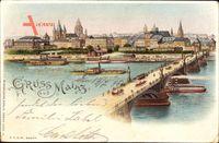 Haltgegendaslicht Mainz, Flusspartie, Brücke, Salon Dampfer, Stadt
