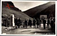 Brennergrenze, Grenzsoldaten, Schranke, Überfahrt nach Italien