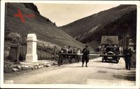 Brennergrenze, Grenzsoldaten, Schranke, Italien, Grenzstein