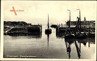 Vlissingen Zeeland, Visschershaven, Fischerboote im Hafen