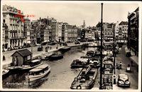 Amsterdam Nordholland Niederlande, Rokin, Boote im Hafen
