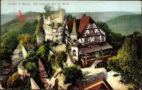 Elsaß Bas Rhin, Burg Hohbarr bei Zabern, Westlicher Teil der Ruine